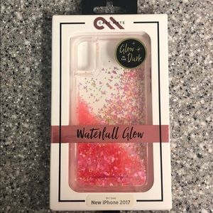 Case-Mate Waterfall Glow case for iPhone X - pink